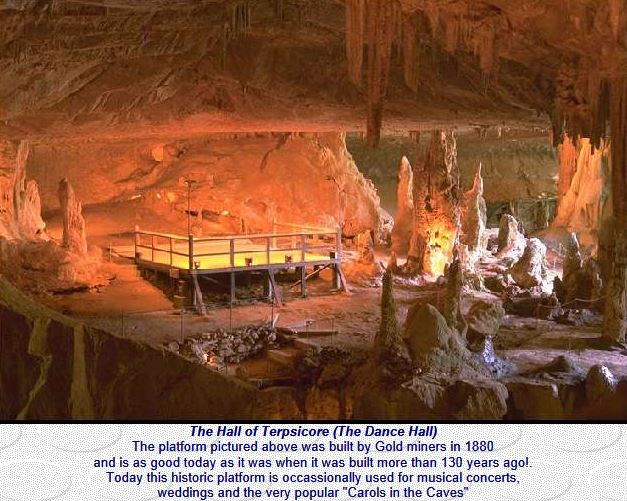 Concerts and Dances are held in the Abercrombie Caves Fifty Minutes from Markdale