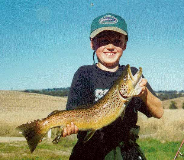 Brown Trout Caught in the Pejar Dam Near Markdale